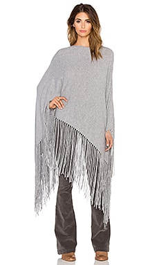 ThePerfext Joan Fringe Poncho in Heather Grey