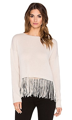 ThePerfext Greenpoint Fringe Sweater in Almond