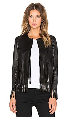 ThePerfext April Fringe Jacket in Black Leather