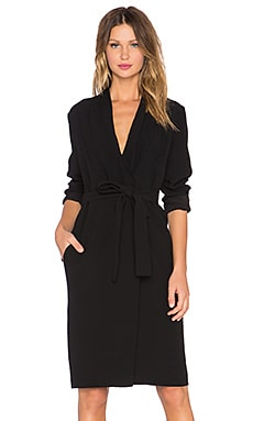 TY-LR The Lucid Trench Dress in Noir