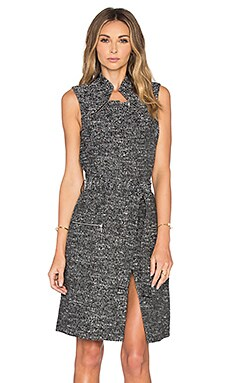 TY-LR The Agate Vest Dress in Salt & Pepper