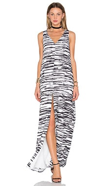 TY-LR The Cali Maxi Dress in White Crayon Print