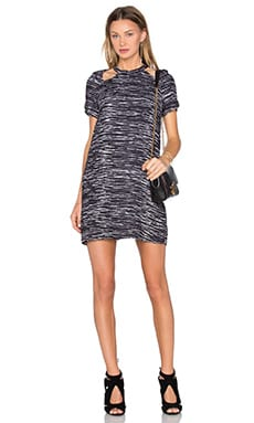 TY-LR The Oslo Dress in Black Crayon Print