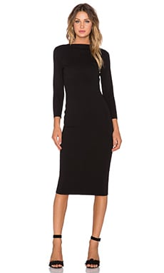 TY-LR The Under Ground Midi Dress in Black