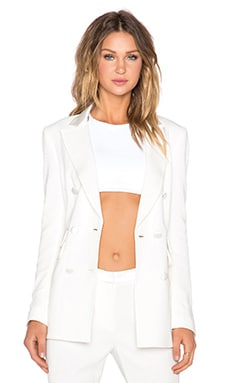 TY-LR The Christine Tuxedo Blazer in White