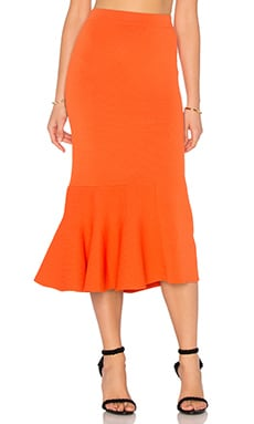 The Diversion Knit Skirt in Tangerine
