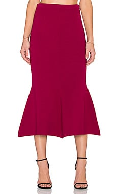 TY-LR The Transit Midi Skirt in Berry