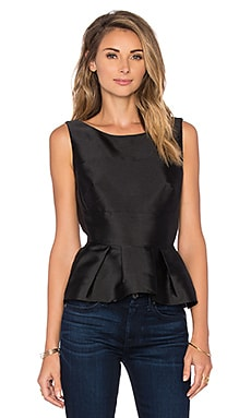 The Graphite Peplum Top