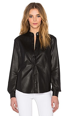 TY-LR The Com Leather Shirt in Black