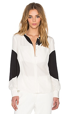 TY-LR The Silk Dot Plutonic Shirt in Black & White