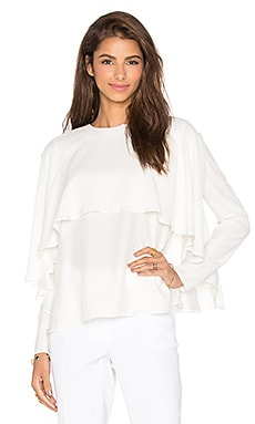 TY-LR The Silk Drapey Top in White