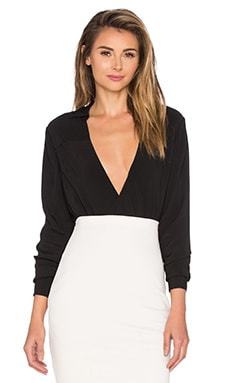 The Catherine Long Sleeve Shirt in Black