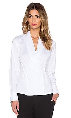 TY-LR The Blazer Top in White