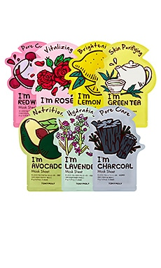 MASQUE VISAGE I'M 7 DAYS SHEET MASK SET TONYMOLY $19 BEST SELLER