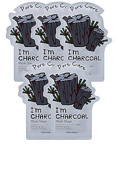 I'm Charcoal Sheet Mask 5 Pack Tonymoly $12