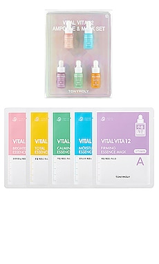 LOT THE VITAL VITA 12 AMPOULE AND MASK SET TONYMOLY $27