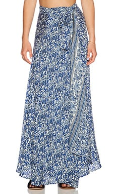 Tysa Wrap Skirt in Blue India