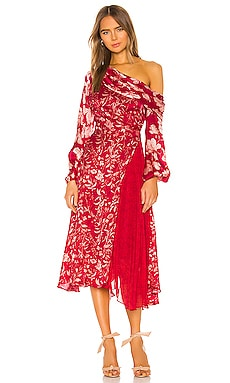 Платье миди lorraine - AMUR