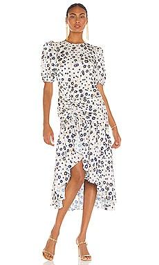 Trissa Ruched Dress AMUR $548 BEST SELLER
