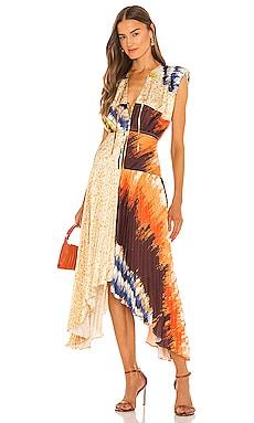 Milan Pleated Midi Dress AMUR $528
