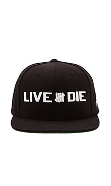 Undefeated Live & Die Snapback in Black