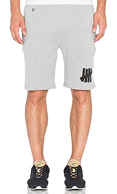 Undefeated 5 Strike Sweatshort in Grey Heather