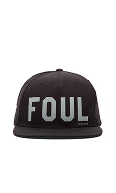 Undefeated Foul Snapback in Black