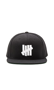 Undefeated 5 Strike Snapback in Black