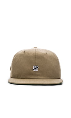 Undefeated Mini 5 Strike Strapback in Khaki