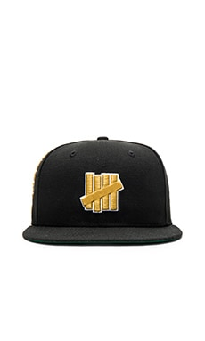 Undefeated 5 Strike New Era Cap in Black