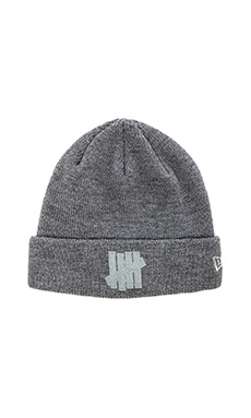 Undefeated Conflict New Era Beanie in Grey Heather