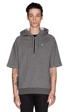 Undefeated Tech S/L Hoodie in Dark Grey