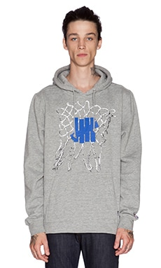 Undefeated Net Hoody in Grey Heather