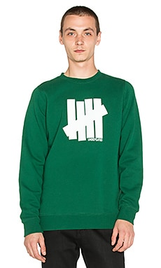 Undefeated Strike Undefeated Sweatshirt in Forest Green