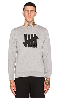 Undefeated Strike Undefeated Sweatshirt in Grey Heather