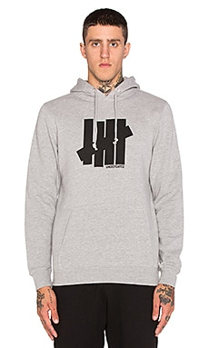 Undefeated Strike Undefeated Hoodie in Grey Heather