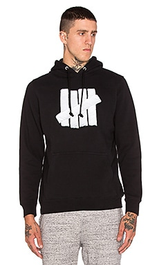 Undefeated Embroidery Strike Hoodie in Black