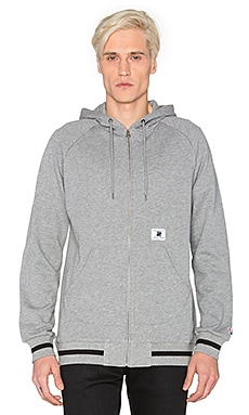 Undefeated Rifle Zip-Up Hood in Grey Heather