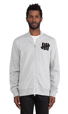Undefeated Revolution Varsity Jacket in Athletic Grey