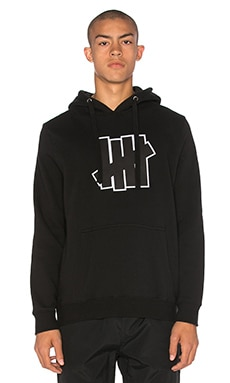 Undefeated Applique 5 Strike Hood in Black