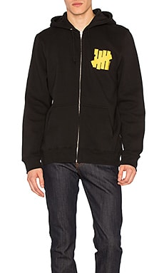 Undefeated Strike Vert Und Zip Up Hoody in Black