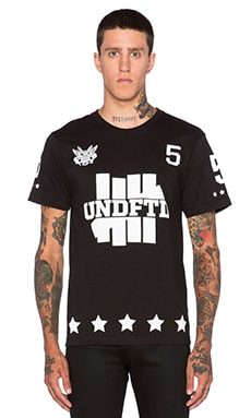 Undefeated 5er Tee in Black