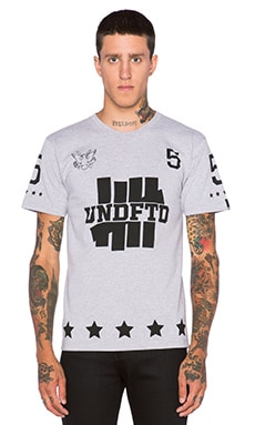 Undefeated 5er Tee in Grey Heather