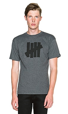 Undefeated 5 Strike Tee in Charcoal Heather