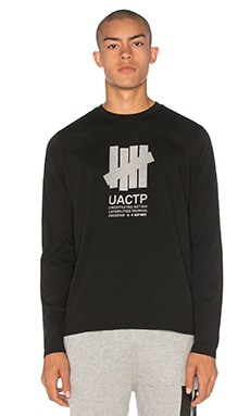 Undefeated L/S UACTP Tech Tee in Black