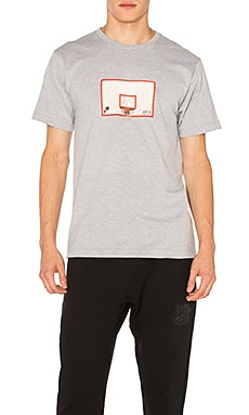 Undefeated Backboard Tee in Grey Heather