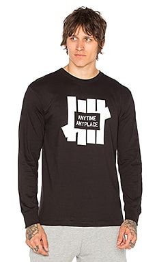 Undefeated Anytime L/S Tee in Black