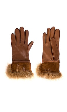Leather Suede Cuff Tech Glove UGG $130