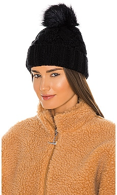 ШАПКА БИНИ KNIT CABLE BEANIE WITH FAUX FUR POM UGG $55