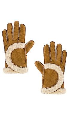 Sheepskin Exposed Curve Seam Glove UGG $155